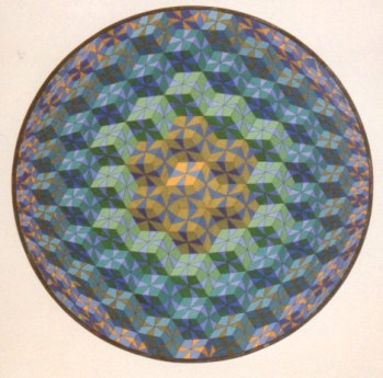 260 - Mignon VII Tribute to Victor Vasarely [60x60]